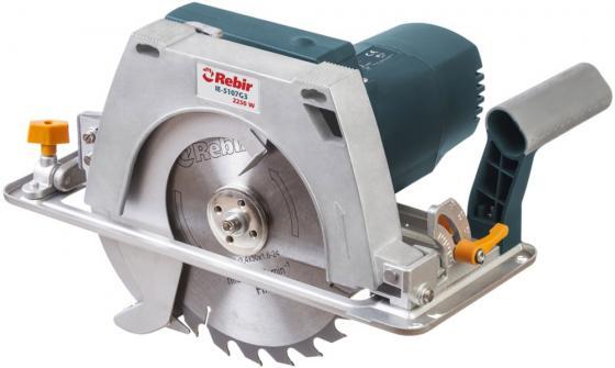 цена на Пила циркулярная REBIR IE 5107G3 2250 Вт со стац. глубина 85 мм диск 235х30 мм плавный пуск
