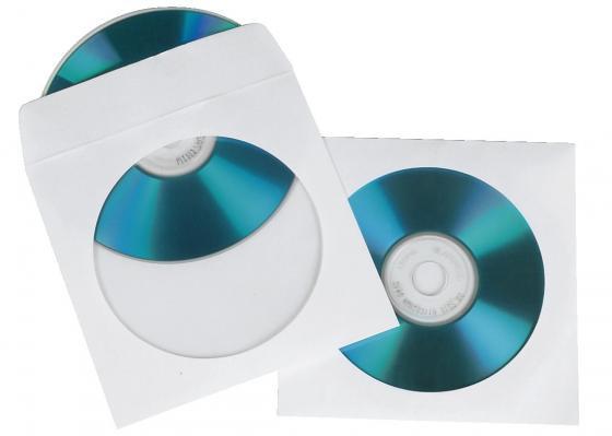 Конверты Hama для CD/DVD бумажные с прозрачным окошком белый 25 шт H-51179 конверты hama для 2 cd dvd бумажные с прозрачным окошком заклеивающиеся 50шт h 83985