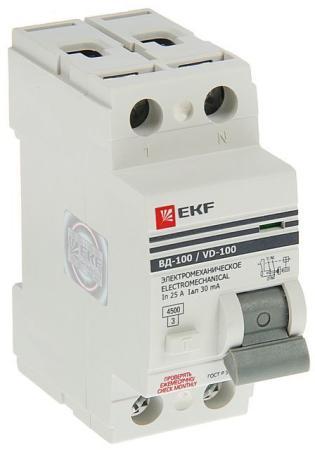 УЗО EKF elcb-2-25-30-em-pro 2п 25а 30мА вд-100 узо эл-мех. proxima узо ekf elcb 2 25 30 em pro