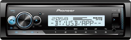 Автомагнитола Pioneer MVH-MS510BT 1DIN 4x50Вт автомагнитола pioneer mvh s110uba 1din 4x50вт