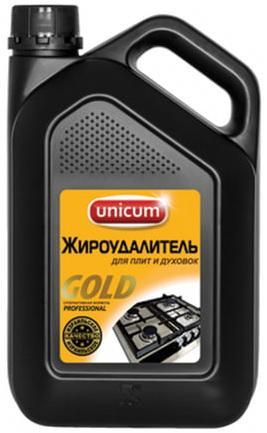 Средство для чистки плит, духовок, грилей от жира/нагара 3 л, UNICUM Gold Professional, 300025 средство для удаления жира unicum gold 380 мл