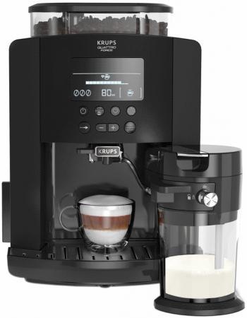 Кофемашина Krups Arabica Latte EA819N10 1450Вт черный кофемашина krups ea894t10 серебристый