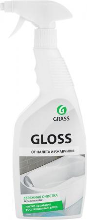 СРЕДСТВО ДЛЯ ВАННОЙ КОМНАТЫ ЧИСТЯЩЕЕ GLOSS 0,6 Л (КИСЛОТНОЕ) (1/12) GRASS средство дезинфицирующее 1 л бриллиант классик концентрат кислотное