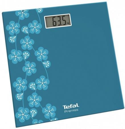 Весы напольные Tefal PP1079V0 бирюзовый рисунок весы напольные tefal premiss flower white pp1070 серый рисунок