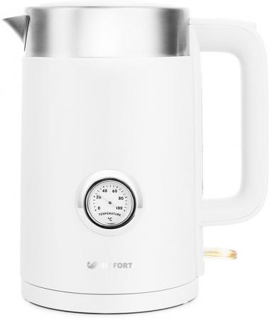 Чайник электрический KITFORT КТ-659-1 2200 Вт белый 1.7 л пластик чайник электрический kitfort кт 667 1 0 6л 1150вт белый