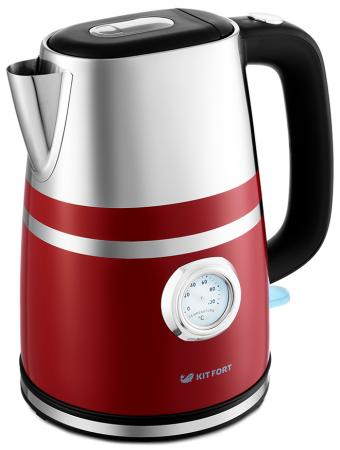 Чайник электрический KITFORT КТ-670-2 2200 Вт красный 1.7 л металл/пластик цена и фото