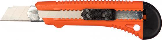 Нож SPARTA 78973 18мм выдвижное лезвие металлическая направляющая цена