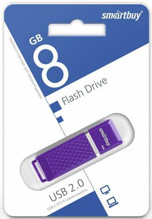 Фото - Флешка 8Gb Smart Buy Quartz USB 2.0 фиолетовый SB8GBQZ-V флешка apacer ah333 8gb 8 гб белый