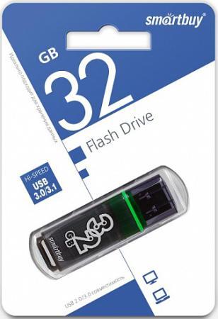 usb flash drive 32gb smartbuy glossy dark grey sb32gbgs dg Флешка 32Gb Smart Buy Glossy USB 3.0 серый SB32GBGS-DG