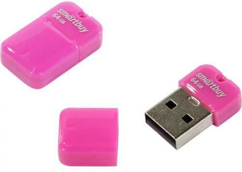 Флешка 64Gb Smart Buy ART USB 2.0 розовый SB64GBAP