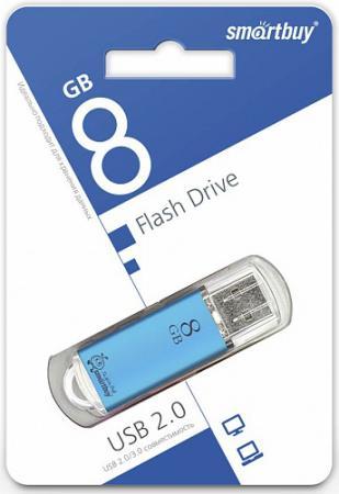 Фото - Флешка 8Gb Smart Buy V-Cut USB 2.0 синий SB8GBVC-B флешка apacer ah333 8gb 8 гб белый