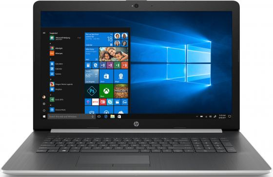 Ноутбук HP17 17-by1016ur 17.3 HD+, Intel Core i7-8565U, 8Gb, 1Tb + 128Gb SSD, DVD-RW, AMD R530 4Gb, Win10, серебристый ноутбук msi gs73 7re 015ru core i7 7700hq 8gb 2tb 128gb ssd nv gtx1050ti 4gb 17 3 fullhd dvd win10 black