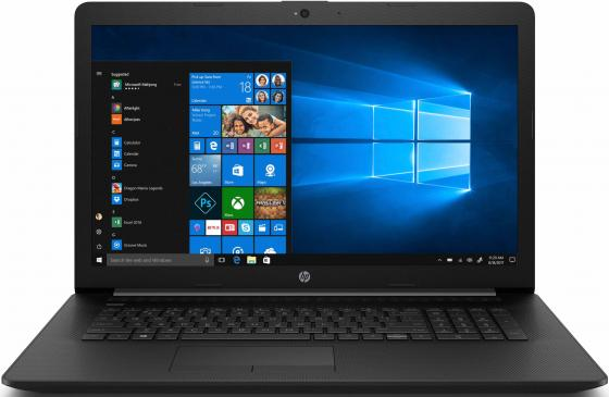 "Ноутбук HP17 17-by0173ur 17.3"" HD+, Intel Core i3-7020U, 4Gb, 500Gb, DVD-RW, Win10, черный системный блок asus k31cd g4400 3 3ghz 4gb 500gb intel hd dvd rw win10 клавиатура мышь 90pd01r2 m08410"