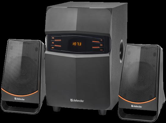 Фото - Колонки DEFENDER X181 2.1 ,18Вт, BT/FM/MP3/SD/USB/LED/RC колонки defender x420 чёрный 2x12 вт 16 вт 20 20 000 гц bluetooth fm mp3 sd usb ду