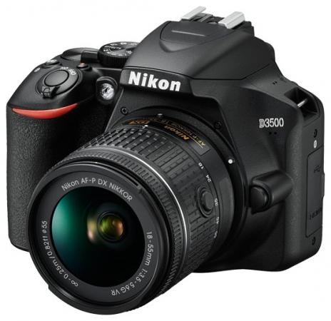 Фотоаппарат Nikon D3500 Black KIT <18-55mm P VR 24,7Mp, 3 LCD> NEW