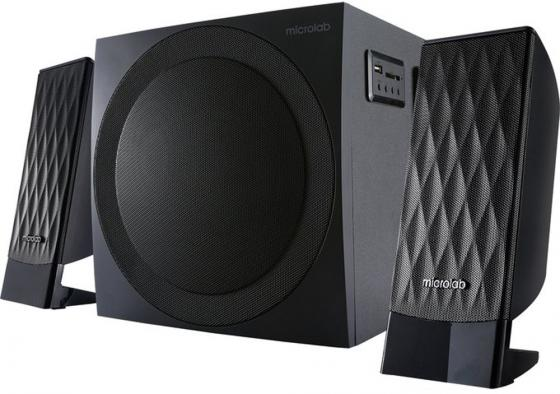 Колонки Microlab M-300BT 2.1чёрные (38W RMS), USB, SD, FM-тюнер, Bluetooth колонки microlab m700u 2 колонки сабвуфер дерево чёрные usb считыватель sd