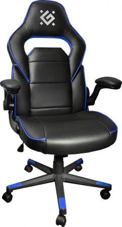 Игровое кресло Defender Corsair CL-361 Черный/Синий полиуретан,50мм, макс 100кг. игровое кресло corsair gaming t1 race черно синий cf 9010004 ww