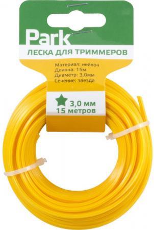 ЛЕСКА ДЛЯ ТРИММЕРА 3,0 ММ 15 М ЗВЕЗДА (1/35) PARK леска для триммера rezer twistop 2 4 мм 15 м эллипс