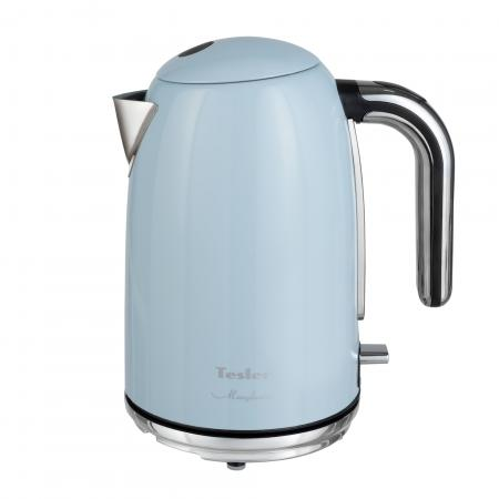 Чайник TESLER KT-1755 SKY BLUE, 2000 Вт., 1,7 л., нерж. сталь, голубой