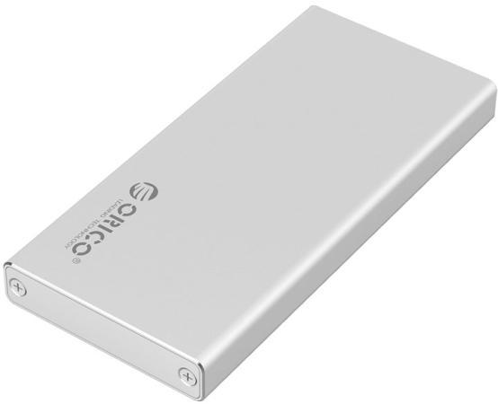 Внешний контейнер для SSD M-SATA SSD, алюминевый корпус, серебро, ORICO MSA-U3-SV
