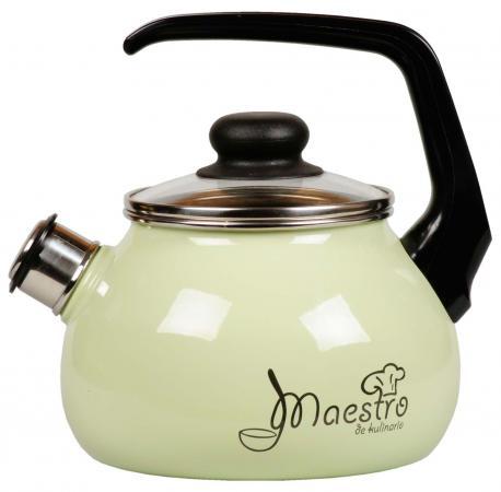 Чайник СТАЛЬЭМАЛЬ Maestro 3 л 1RC12 чайник maestro rainbow mr 1301 серебристый черный 3 5 л