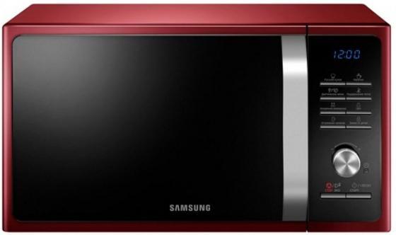 Микроволновая печь Samsung MG23F301TQR/BW 800 Вт бордовый микроволновая печь samsung mg23h3115qr bw