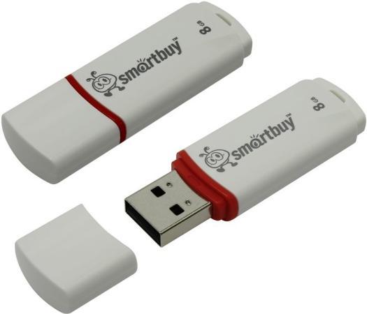 Флешка 8Gb Smart Buy Crown USB 2.0 белый SB8GBCRW-W