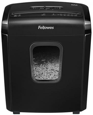 Шредер Fellowes PowerShred 6M (секр.P-4)/фрагменты/6лист./13лтр./скрепки/скобы/пл.карты цена 2017