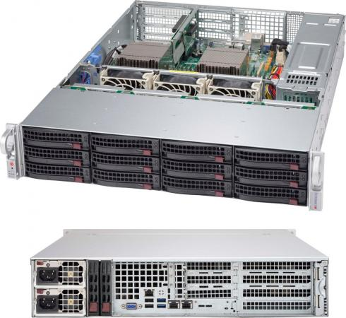 Корпус SuperMicro CSE-826BAC4-R1K23WB 2x1200W черный цена