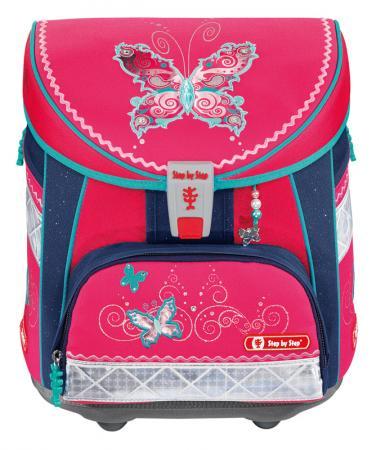 Ранец дышащая спинка Step by Light Butterfly Dancer розовый синий