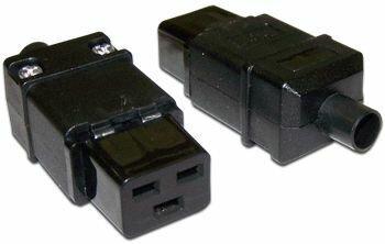 Вилка Lanmaster LAN-IEC-320-C19 IEC 60320 C19 16A 250V black разъем hyperline con iec320c20 iec 60320 c20 220в 16a на кабель контакты на винтах