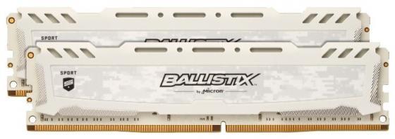 Crucial 16GB Kit (8GBx2) DDR4 2666 MT/s (PC4-21300) CL16 SR x8 Unbuffered DIMM 288pin Ballistix Sport LT White полный хо v цвет ddr4 3000 16gb 8gbx2 бар секция рабочего стола памяти ipl rgb