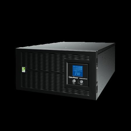 UPS Line-Interactive CyberPower PR6000ELCDRTXL5U 6000VA/4500W USB/RS-232/Dry/EPO/SNMPslot/RJ11/45/ВБМ (8 IEC С13, 2 IEC C19, 1 клеммная колодка) ups cyberpower uti675e line interactive 675va 360w 2 euro