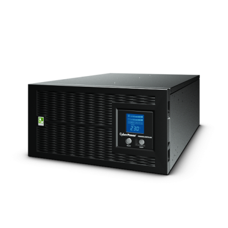 UPS Line-Interactive CyberPower PR6000ELCDRTXL5U 6000VA/4500W USB/RS-232/Dry/EPO/SNMPslot/RJ11/45/ВБМ (8 IEC С13, 2 IEC C19, 1 клеммная колодка) upc line interactive cyberpower utc850ei 850va 425w 4 iec с13