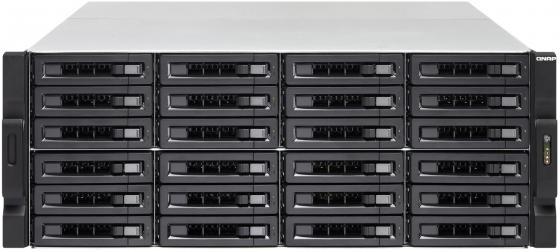SMB QNAP TS-2483XU-RP-E2136-16G 24-Bay NAS (24x 2.5/3.5 SATA HDD/SSD), Intel Xeon E-2136 6-core 3.3 GHz (up to 4.5 GHz), 16 GB DDR4 ECC RAM (2 x 8GB) up to 64 GB ( 4 x 16 GB), 4x GbE LAN, 2 x 10GbE SFP+, rackmount 4U, 2xPSU. W/o rail kit RAIL-A02-90