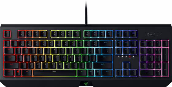 лучшая цена Клавиатура проводная Razer Blackwidow - Mechanical Gaming Keyboard - Russian Layout (Green Switch) USB черный