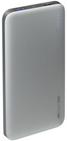 Фото - Внешний аккумулятор Deppa NRG Power 5000 mAh, 2.1A, 2xUSB, графит внешний аккумулятор deppa nrg turbo compact 10000 мач qc pd 3 0 18w led экран