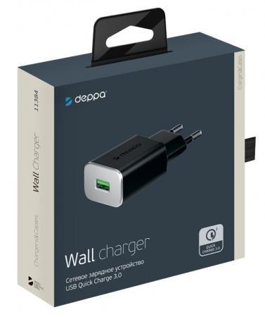 Фото - Сетевое зарядное устройство Deppa 11384 3 А черный зарядное