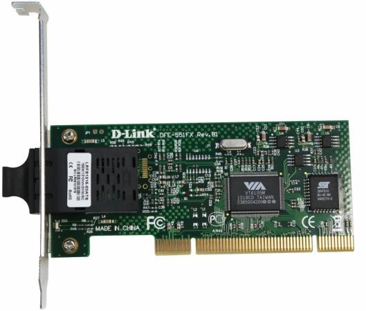 Сетевой адаптер D-Link DFE-551FX/B1B Сетевой PCI-адаптер с 1 портом 100Base-FX с дуплексным SC-разъемом сетевой адаптер shenma inverter sm5800