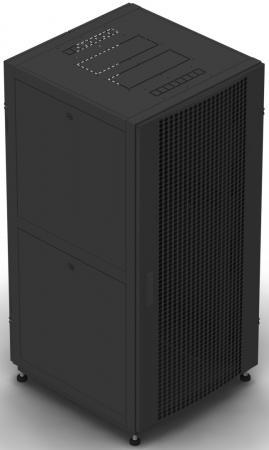 """Шкаф 19"""" напольный 42U 800x1000, дверь перфорированная, черный, 4ч, NT BUSINESS2 MP42-810B"""
