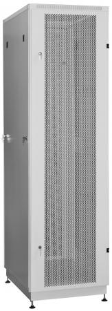 """Шкаф 19"""" напольный 27U 600x1000, дверь перфорированная, серый, 3ч, NT PRACTIC2 MP27-610 G"""