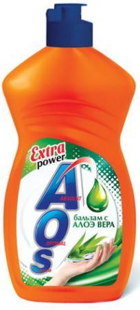 Средство для мытья посуды 450 мл, AOS Бальзам Алоэ Вера, 1112-3 средство для мытья посуды миф бальзам алоэ вера 500 мл