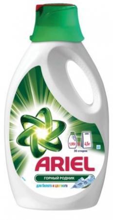 Средство для стирки жидкое автомат 1,95 л, ARIEL (Ариэль) Горный Родник, гель, концентрат средство для стирки жидкое автомат 2 6 л ariel ариэль color гель концентрат 1001932