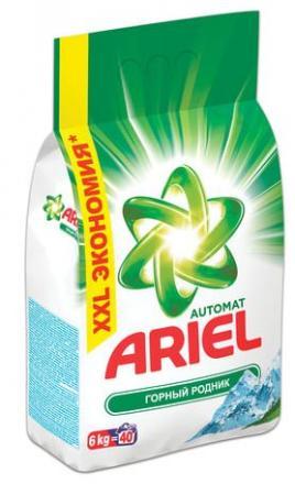 Стиральный порошок ARIEL Горный родник 6кг порошок стир ariel color 6кг