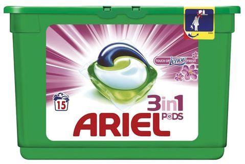 Стиральный порошок-автомат капсулы 15 шт. по 28,8 г, ARIEL (Ариэль) Ленор эффект, AG-81578063 стиральный порошок sorti супер эконом 8524 3 350 г