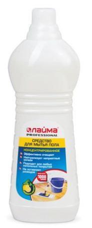 Средство для мытья пола 1 кг, ЛАЙМА PROFESSIONAL концентрат, Лимон, 601607 средство для мытья пола лайма professional лимон концентрат 1 л