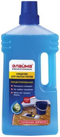 Средство для мытья пола 1 л, ЛАЙМА PROFESSIONAL концентрат, Утренняя свежесть, усиленная формула, 604796 средство для мытья пола лайма professional лимон концентрат 1 л