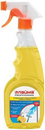 """Средство для мытья стекол и зеркал 750 мл, ЛАЙМА PROFESSIONAL """"Лимон"""", распылитель, 604653 недорого"""