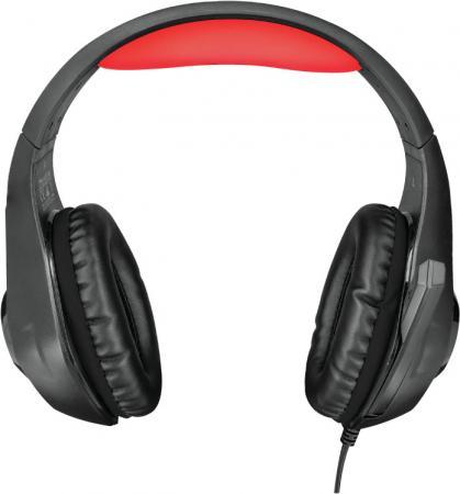 лучшая цена Игровая гарнитура проводная TRUST GXT 313 Nero Illuminated Gaming Headset черный 21601