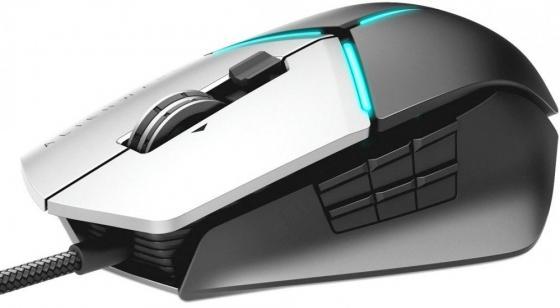 лучшая цена Мышь проводная DELL Alienware Elite Gaming Mouse AW959 серый чёрный USB